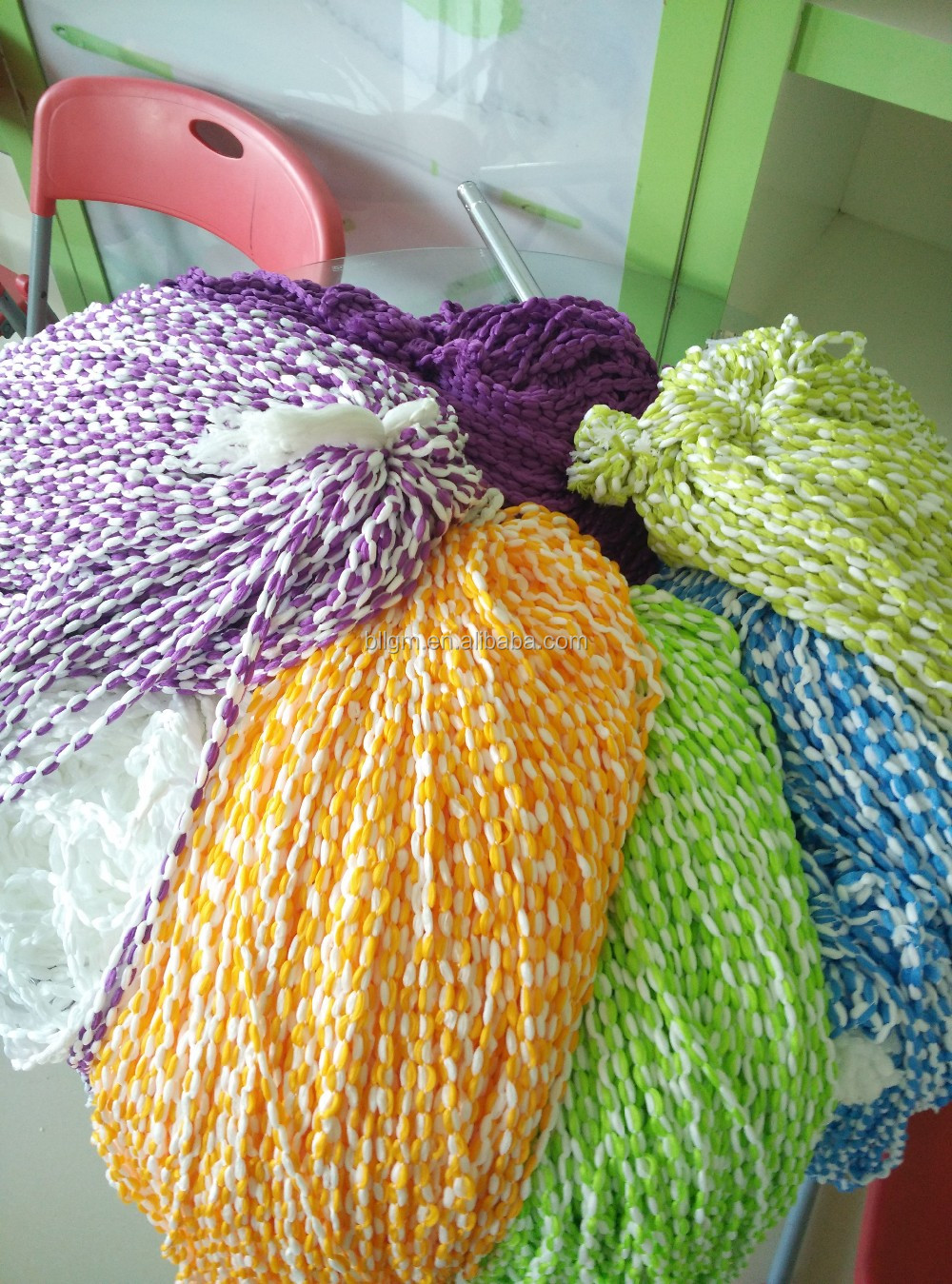 hot selling 300D 576F spun yarn cotton for mops,dyed cotton mop yarn