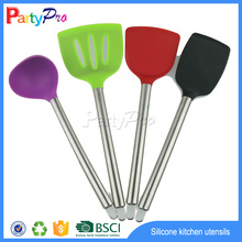 Hot New Products for 2015 China Supplier Wholesale Promotional Silicone Kitchen Utensils Stainless Steel Kitchen Utensils