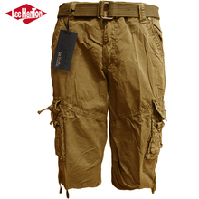 Hot selling masculina shorts mens outdoor 6 pocket cargo pants with belt