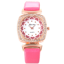 5148 Wholesale Price Love Leather Watches Lady Girl Dress Relogio Analog Quartz Vogue Casual women fashion watch