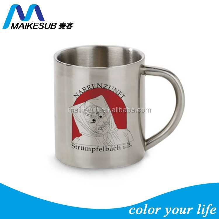 High quality stainless steel coffee mug for sublimation printing