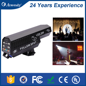 Professional Stage Wedding Used Zoom Function 300W LED Follow Spot