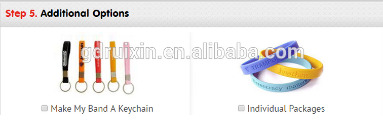 cheap custom embossed silicone bracelet without color print on