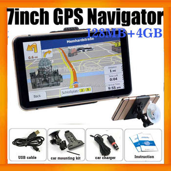 "7"" Touch Screen Portable Car GPS Navigator With built in 4GB Memory and Free maps"