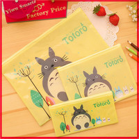 Hot sale 2016 office&school supplies stationery product china supplier factory price cartoon pvc document bag A4 size