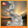 teak stone horse statue for wood carving building