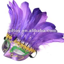 2014 purple beautiful design feather mask