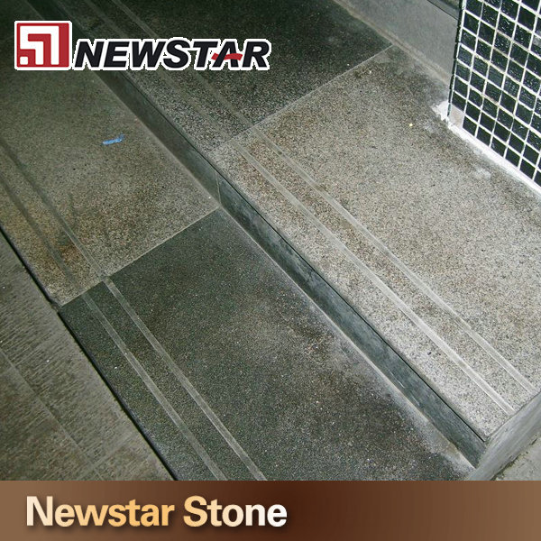 Newstar China outdoor polished honed flamed natural split tumbled 12x12 entrance natural grey granite rock pavers stairs prices