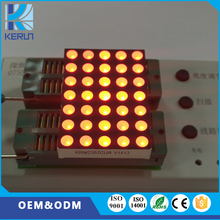 P7.62 LED 5X7 dot Matrix display module P7.62 35 dots red color LED panel display module in shenzhen