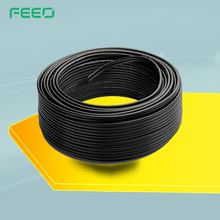 Tin Plated Copper 2-Core Power 4mm2 6mm2 Custom Multicore DC PV Solar Cable For Solar Panel