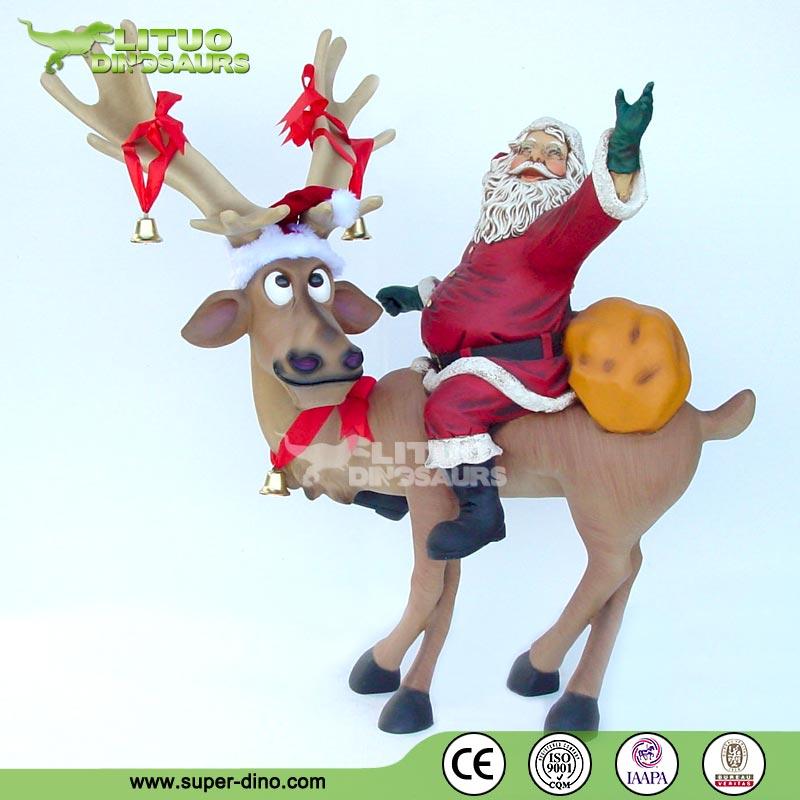 Christmas fiberglass life size santa claus statues buy
