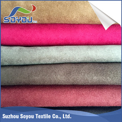 China top ten selling products 100% polyester suede fabric,synthetic suede fabric,faux suede fabric