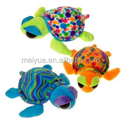 Wholesale plush material toy animal rainbow turtle/High quality stuffed animal/Plush toy