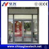 Modern style Australia standard aluminum alloy frame swing double tempered/laminated glass doors with windows that open