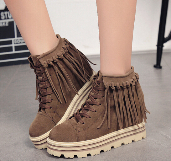 2016 new model women polish wedges boots wholesale ankle boots for women