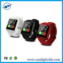 Competitive price accept paypal bluetooth u8 smart watch for android phone( red)