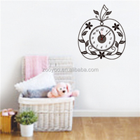 ZOOYOO 3d decorative wallpaper apple shaped wall clock small decorative wall clocks Apple (ZY837)