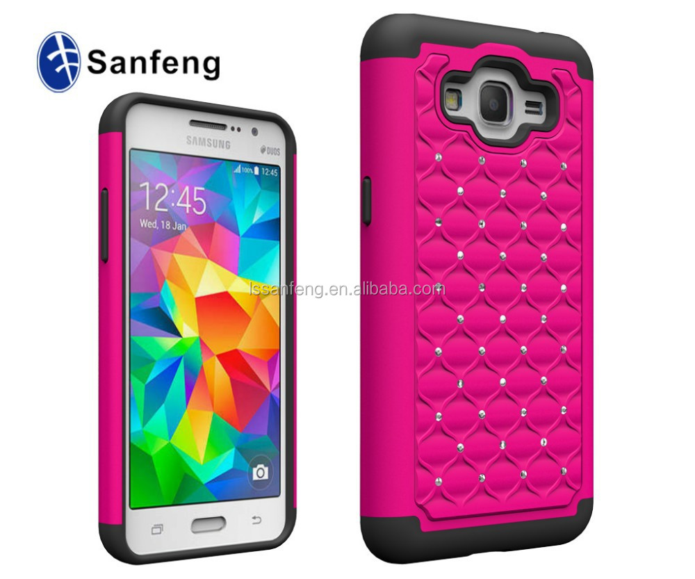 best gift diamond case pc+ silicone for galaxy grand prime G5308