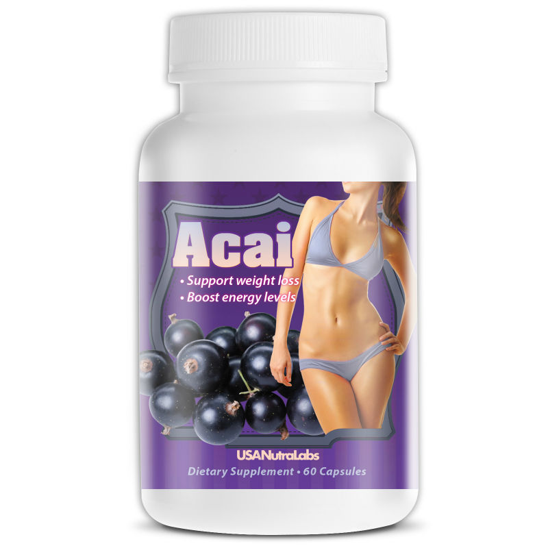 High Concentrate Super Food 1200mg Pure Acai Berry Capsules