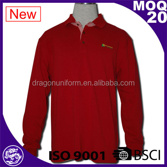 BSCI/ISO9001 2017 Discount Garment Wash Polo lapel sports embroidery/Sublimation ladies red polo shirts