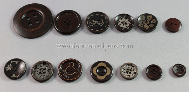 laser wood buttons for silk flower garland