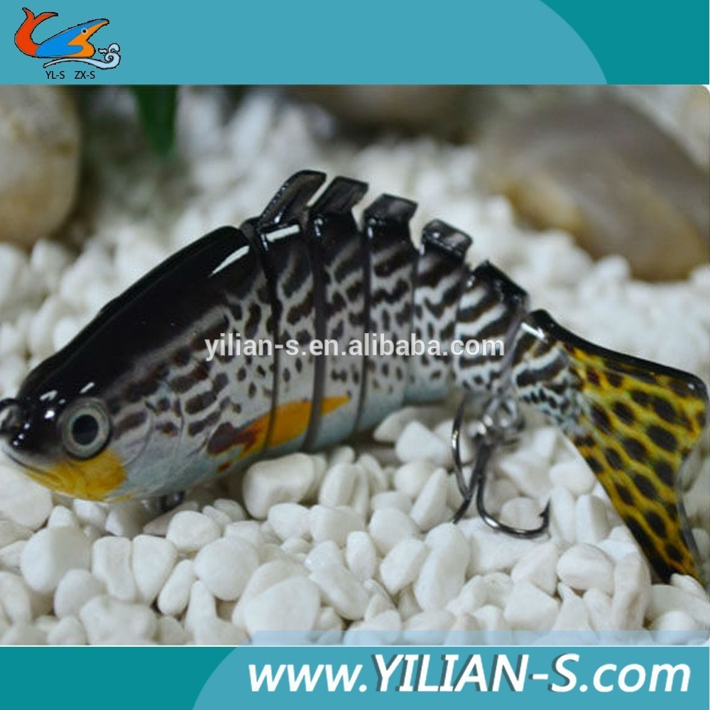 Lethal kille! Popular paillette fish treble hook 3D eyes multi sections fishjig tackle fishing lure swim bait