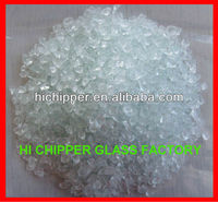 Clear terrazzo decorative recycled glass chips