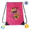 Promotional purple screen printing polyester cheap drawstring backpack bags 190t