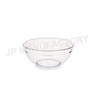 1L Strong Stackable Round Plastic Salad Bowl