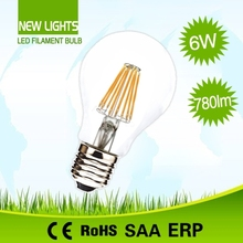 Widely applicated indoor new product replace halogen lamp 80w led filament bulb 8w a60
