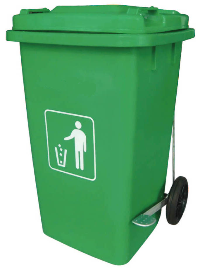 melamine trash can, Green color of plastic dustbin or waste container