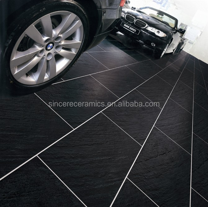 3D inkjet rustic finish porcelain floor tile for parking