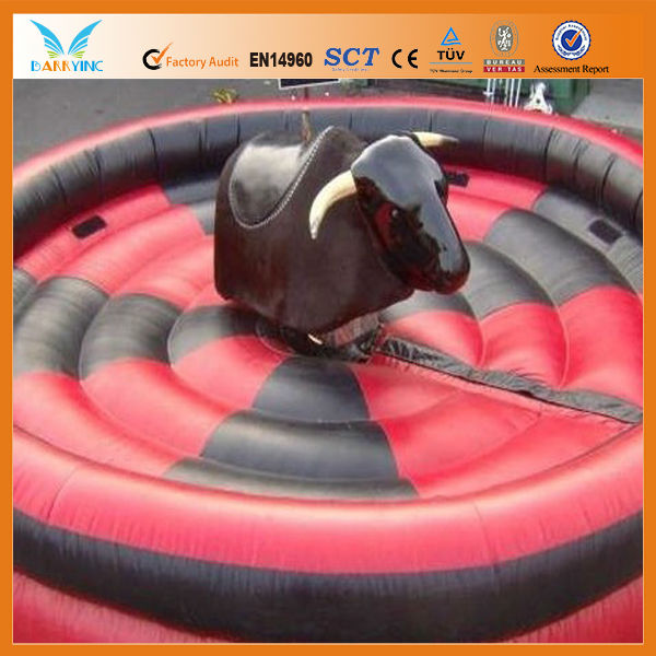 indoor Inflatable games sports, red inflatable mechanical bull for sale, kids mechanical bull rides