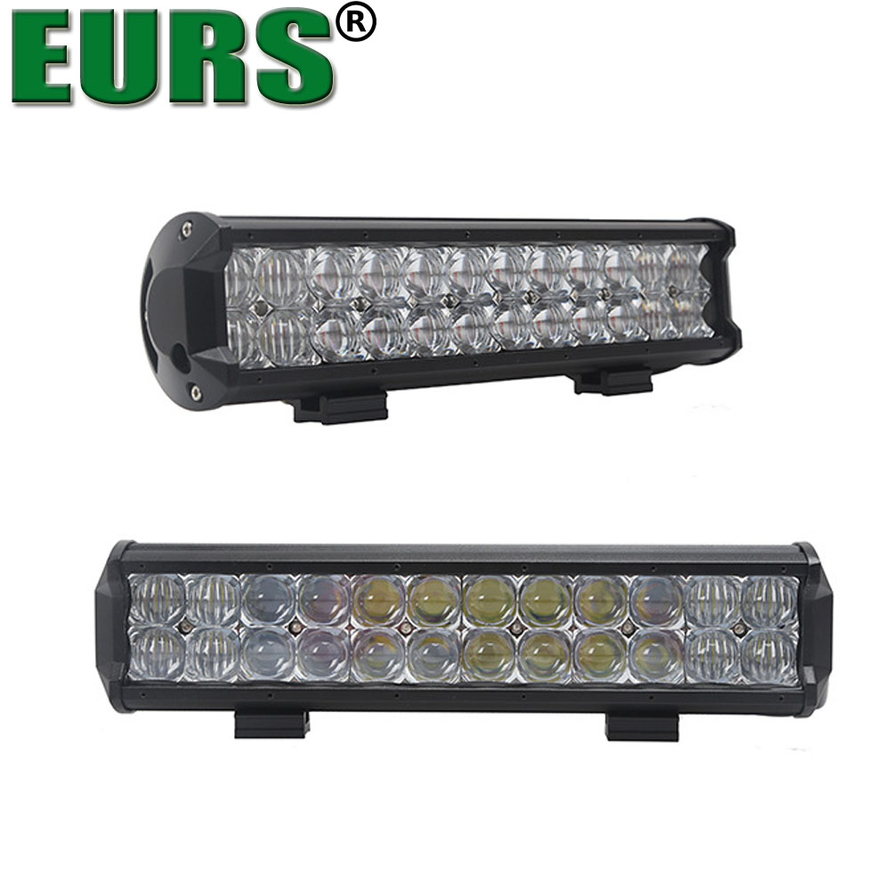 EURS spot flood combo beam 6000k 6120lm 12v 24v 72w led light bar car spot lamp