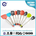 Wholesale Silicone Kitchen Utensil Cooking Set Heat Resistant Colorful Silicone Kitchen Utensil Tool Set