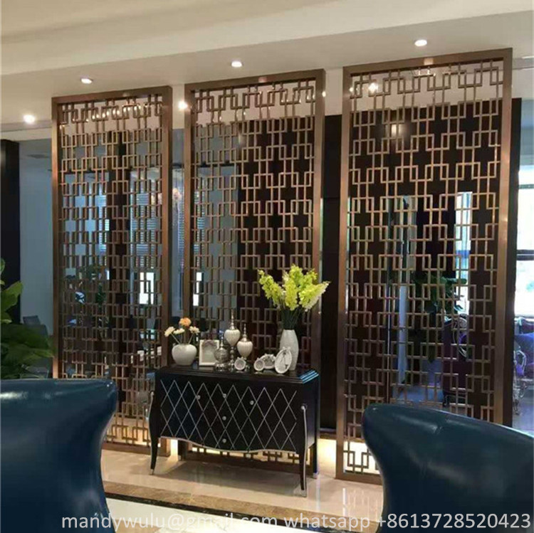 Stainless Steel Decorative Room Divider for Restaurant