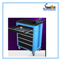 Heavy duty design metal tool box trolley 5 drawers tool box for sale