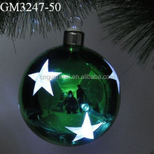 Stars Pattern Hanging Glass Xmas Ball