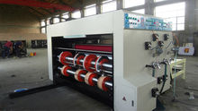 flute paper printing machine/ printer slotter with die cutter