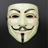 100pcs Hot V for Vendetta Anonymous V vendetta team guy fawkes masquerade Halloween carnival Mask DHL Freeshipping