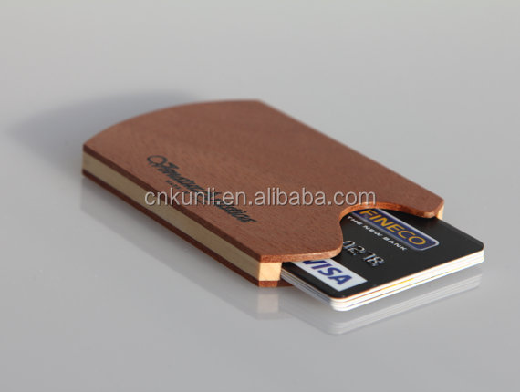 custom high quality Men's Wooden wallet/Business card holder/Credit card wallet
