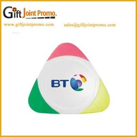 Promotional Printed Triangle 3 Color Highlighter Pen, Marker Pen