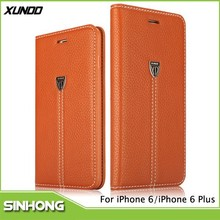 XUNDD Brand Genuine Leather Wallet Flip Type Mobile Phone Case For iPhone 6