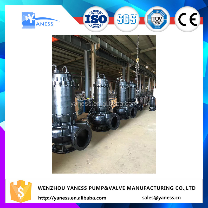 sewage pump cut submersible pump with cast steel chopping disc