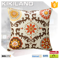 2015 hot sale decorative printed pillow case custom cushion cover