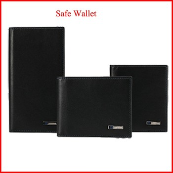 new arrival security anti lost genuine leather wallet with USB charging ports