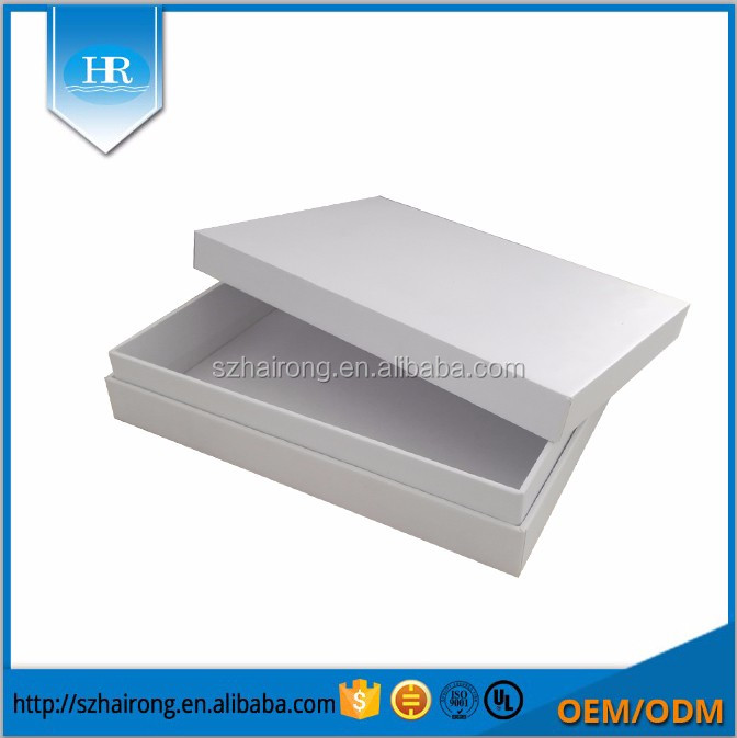 Custom Glossy White Card Printed Color Logo Paper Empty Packing Box /Creative Paper Packaging Box