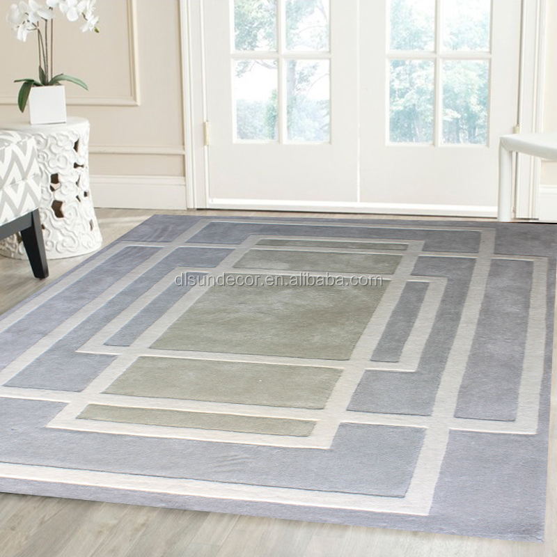 polyester white felt ball rug
