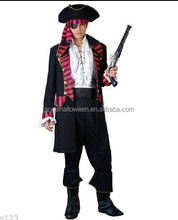 Amazing Charm Popular Black Jack Captain Caribbean Carnival Pirate Cosplay Costume AGM4155