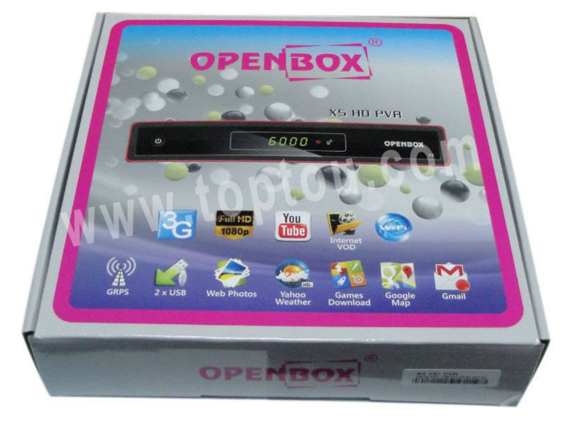2014 Original Openbox x5 with usb wifi Satellite Receiver 1080P full hd Openbox x5 hd pvr